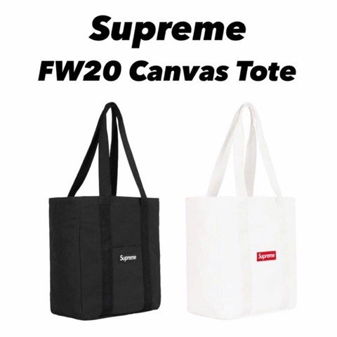 SUPREME FW20 CANVAS TOTE BAG - WHITE