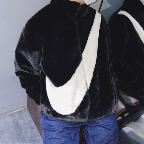 NIKE BIG SWOOSH FUR JACKET