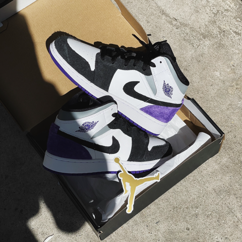 JORDAN 1 MID SE PURPLE (GS) - BQ6931 105
