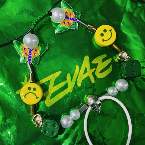 SALUTE SMILEY PEARL EVAE NECKLACE