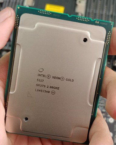Intel Xeon Gold 5117 / 2.0GHz turbo 2.80GHz / 14 Cores 28 Threads