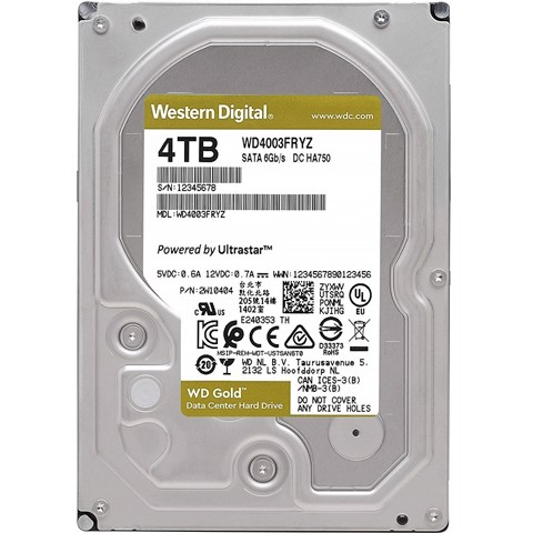 HDD Western Digital Gold 4TB 128MB cache 7200rpm