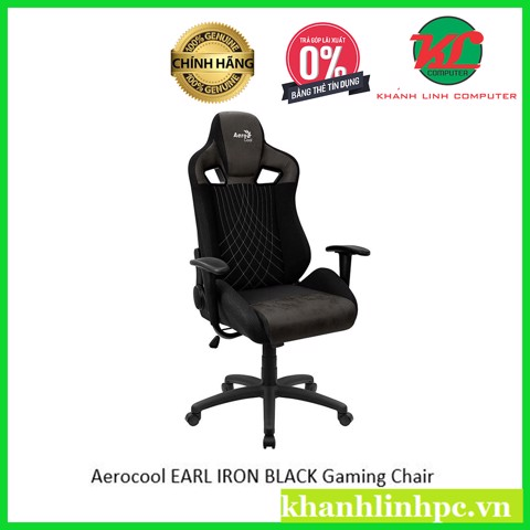 Ghế Aerocool GAMING CHAIR EARL IRON BLACK