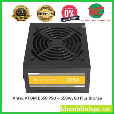 Antec ATOM B650 PSU – 650W, 80 Plus Bronze