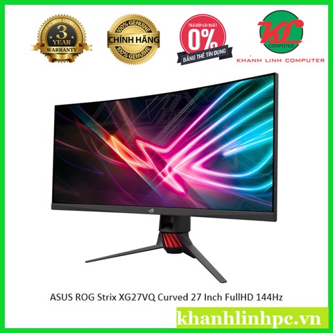 ASUS ROG Strix XG27VQ Curved Gaming Monitor – 27 inch Full HD (1920x1080) 144Hz