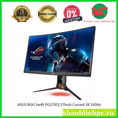 ASUS ROG Swift PG27VQ Curved Gaming Monitor – 27 inch 2K WQHD (2560x1440) 165Hz