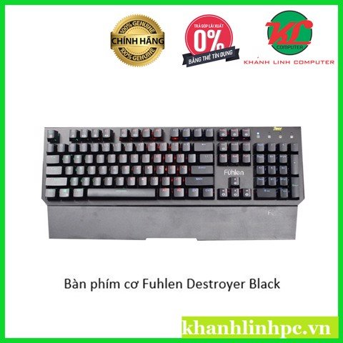 Bàn phím cơ Fuhlen Destroyer Black (Full size/Optical Switch/7 màu)