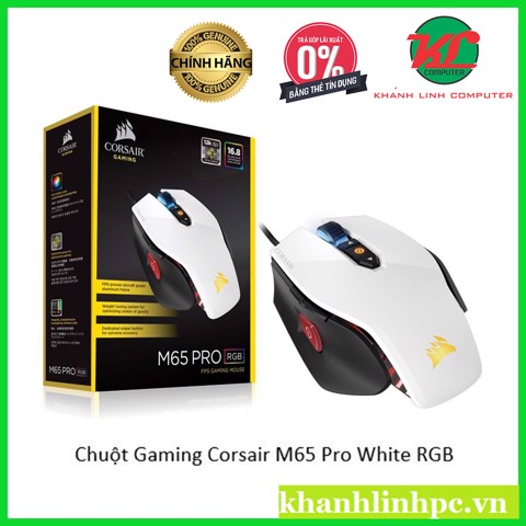 Chuột Gaming Corsair M65 Pro White RGB