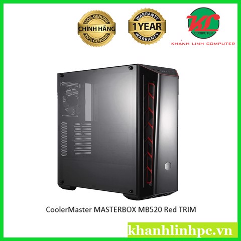 Thùng CoolerMaster MASTERBOX MB520 Red TRIM