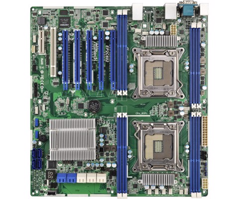 ASRock Rack EP2C602 - Dual Xeon Workstation Mainboard 2011v1v2