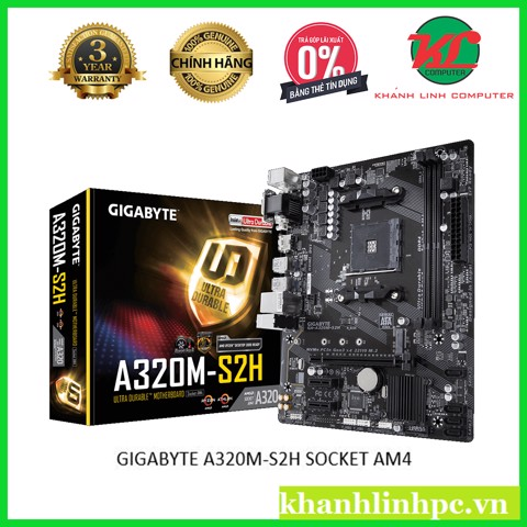 GIGABYTE A320M-S2H SOCKET AM4