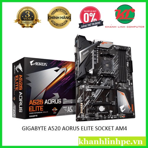 GIGABYTE A520 AORUS ELITE  SOCKET AM4