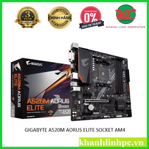 GIGABYTE A520M AORUS ELITE SOCKET AM4