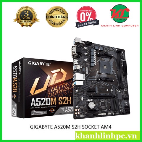 GIGABYTE A520M S2H SOCKET AM4