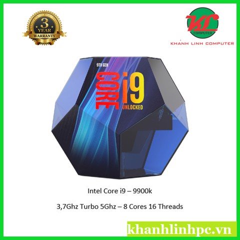 CPU Intel Core i9 9900K 3.6Ghz - 5.0Ghz / 16MB / 8C16T