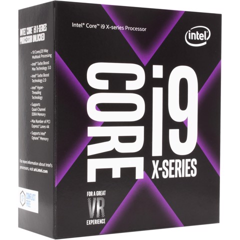 CPU Intel Core i9-7900X 4.3Ghz Up to 4.5Ghz / 13.75MB / 10 Cores, 20 Threads