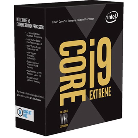 CPU Intel Core i9-7980XE 2.6Ghz Up to 4.2Ghz / 24.75MB / 18 Cores, 36 Threads