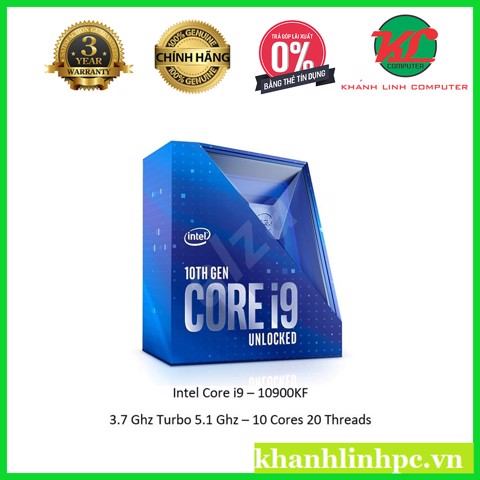 CPU INTEL Core i9 10900KF (10C/20T, 3.70 GHz Up to 5.10 GHz, 20MB) - socket 1200