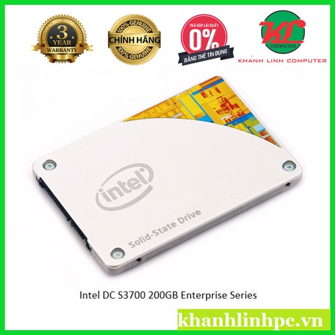 SSD Enterprise Workstation Intel DC S3700 200GB (10 drive writes per day for 5 years)