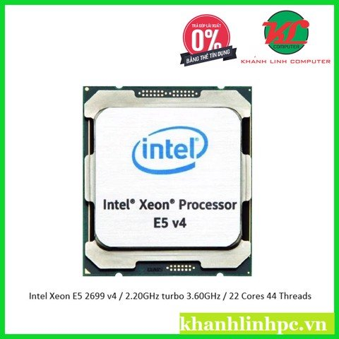 Intel Xeon E5 2699 v4 / 2.20GHz turbo 3.60GHz / 22 Cores 44 Threads
