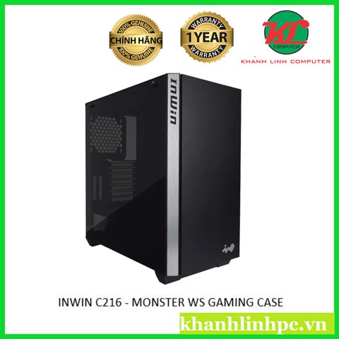 INWIN C216 - MONSTER WS GAMING CASE WITH 2HDD SLOTS