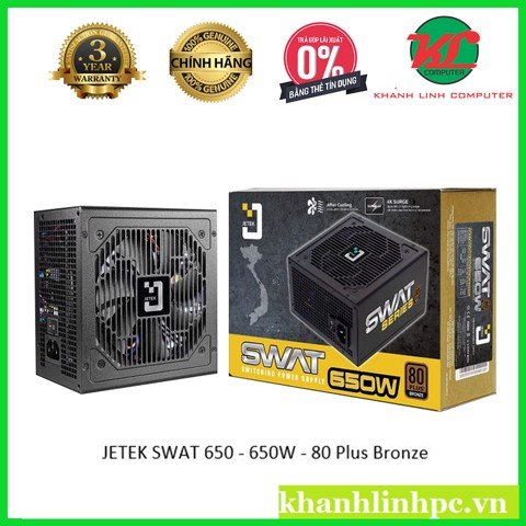 JETEK SWAT 650W 80 Plus Bronze Single Rail 2 đầu CPU chuyen cho WS