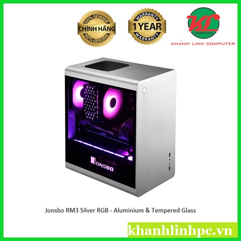 Jonsbo RM3 Silver RGB - Aluminium & Tempered Glass