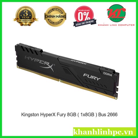 Kingston HyperX Fury 8GB ( 1x8GB ) Bus 2666 Cas 16 – DDR4
