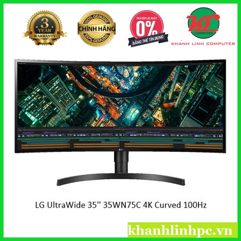 Màn hình LCD LG UltraWide 35'' 35WN75C (IPS / 4K / Curved / 100 Hz)
