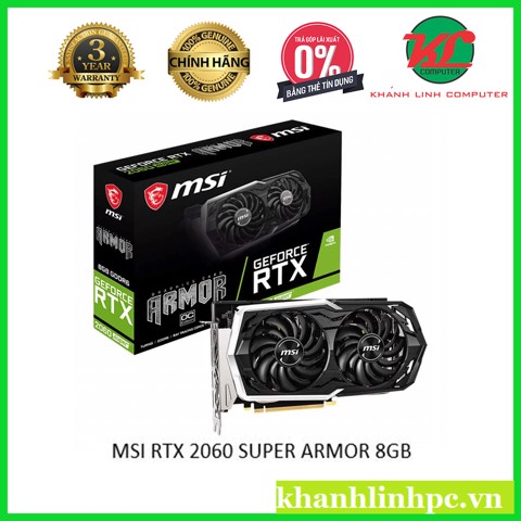 MSI RTX 2060 SUPER ARMOR 8GB