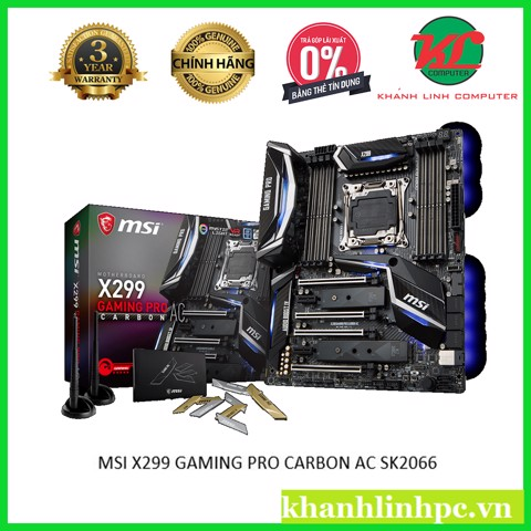 MSI X299 GAMING PRO CARBON AC SK2066