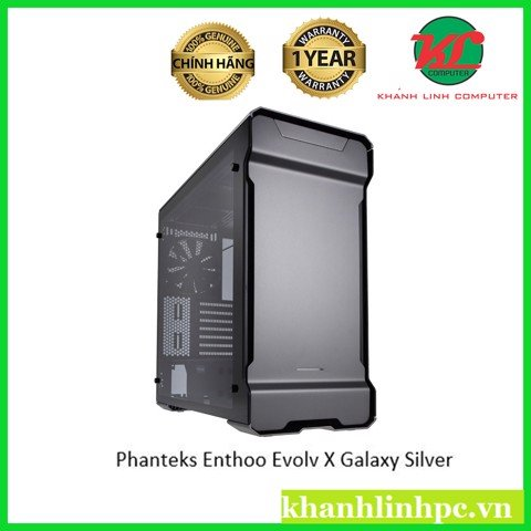 Phanteks Enthoo Evolv X Galaxy Silver - RGB illumination Full Aluminium Mid-Tower Case