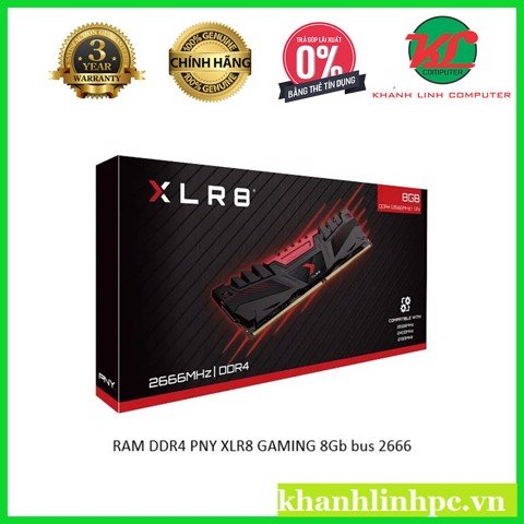 RAM DDR4 PNY XLR8 GAMING 8Gb bus 2666