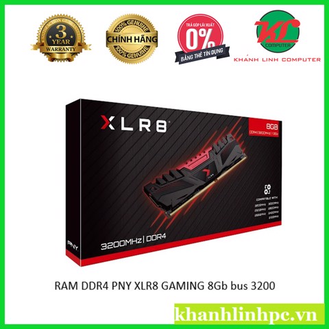 RAM DDR4 PNY XLR8 GAMING 8Gb bus 3200