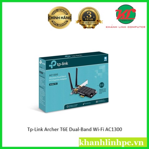 Card wifi gắn trong cao cấp Tp-Link Archer T6E Dual-Band Wi-Fi AC1300