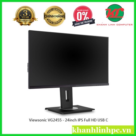 Viewsonic VG2455 - 24inch IPS Full HD(1080P) -USB C