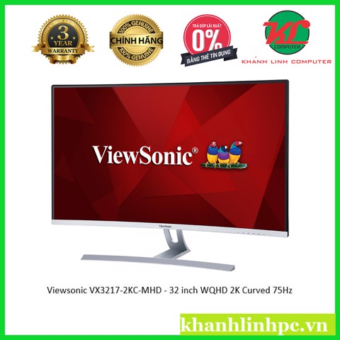 Viewsonic VX3217-2KC-MHD - 32 inch WQHD 2K Curved (2560x1440) 75Hz