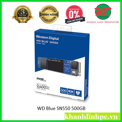 WD Blue SN550 500GB – PCI NVMe SSD