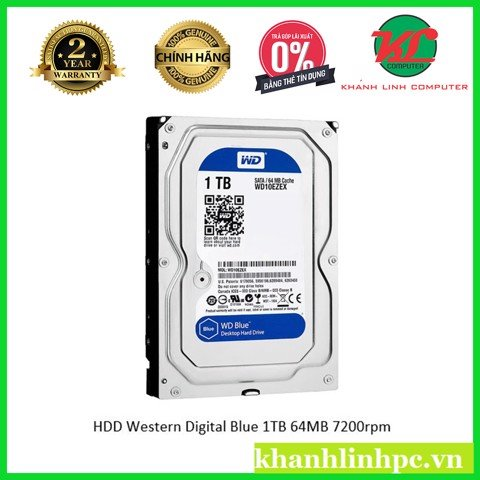HDD Western Digital Blue 1TB 64MB 7200rpm