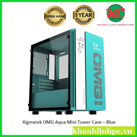 Xigmatek OMG Aqua Mini Tower Case – Blue