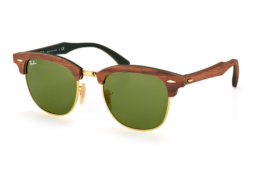KÍNH MÁT UNISEX RAY-BAN CLUBMASTER WOOD S-RAY 3016M-1182/4E(51IT)