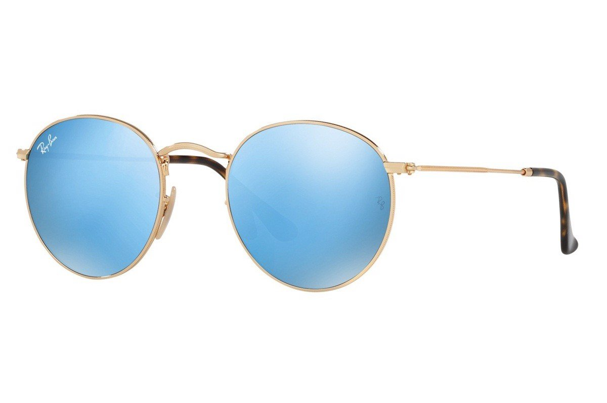 KÍNH MÁT UNISEX RAY-BAN ROUND FLASH LENSES S-RAY 3447N-001/9O(50IT)