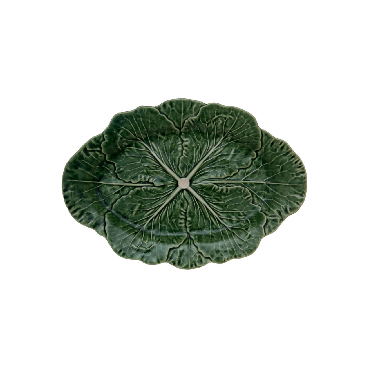 Bordallo - Leaves - Double leaf (blue bird) - 22cm