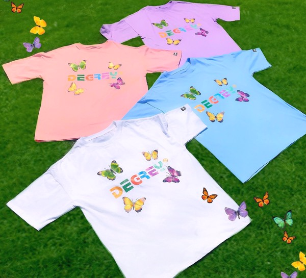 Degrey Butterfly Tee Trắng - DBT Trắng