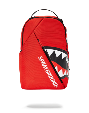 sprayground angled shark red