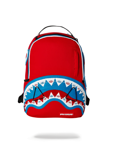 sprayground braces shark red