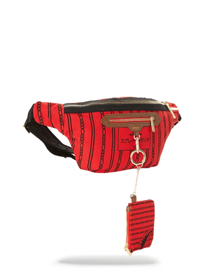Sprayground Reverse Shark In Paris Crossbody 'Red'