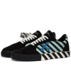 Giày Off-White Vulc Sneaker Low Black Green OMIA085R21LEA006-1045