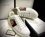 Gucci Wmns Ace Low 'GG Apple Patch White'  611377 DOPE0 9064