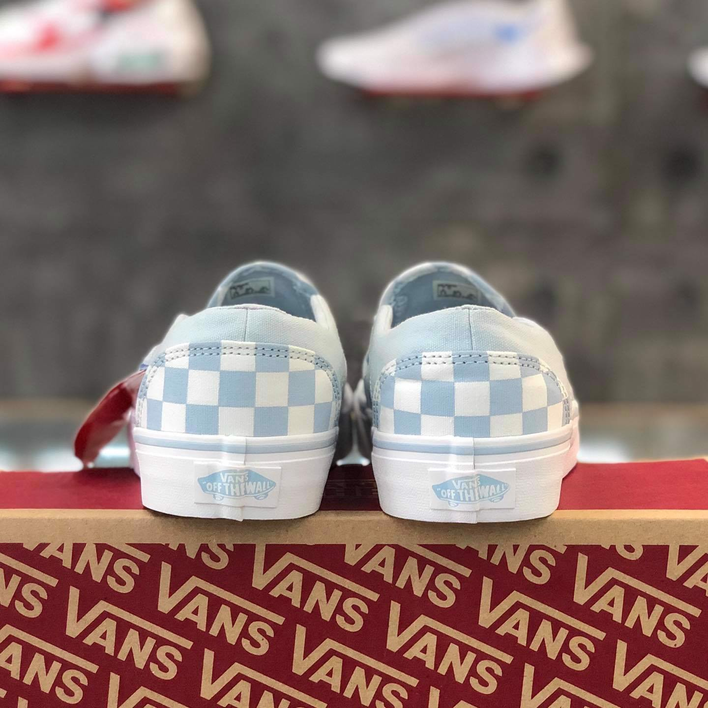 Vans Asher 'Checkerboard Baby Blue' VN0A32QMROI
